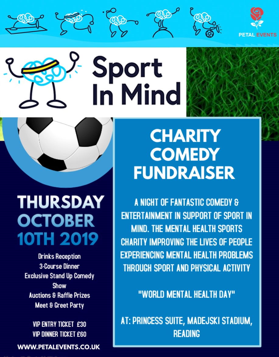 Sport In Mind Charity Comedy Fundraiser