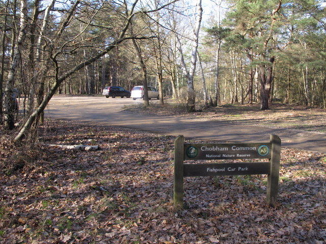 The entrance of Fishpool Car Park in Chobham Common - PHOTO courtesy of Paul E Smith