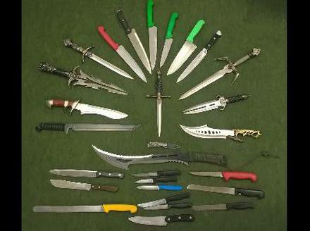 PICTURES: Dozens of weapons including axe and Zombie knife surrendered to police