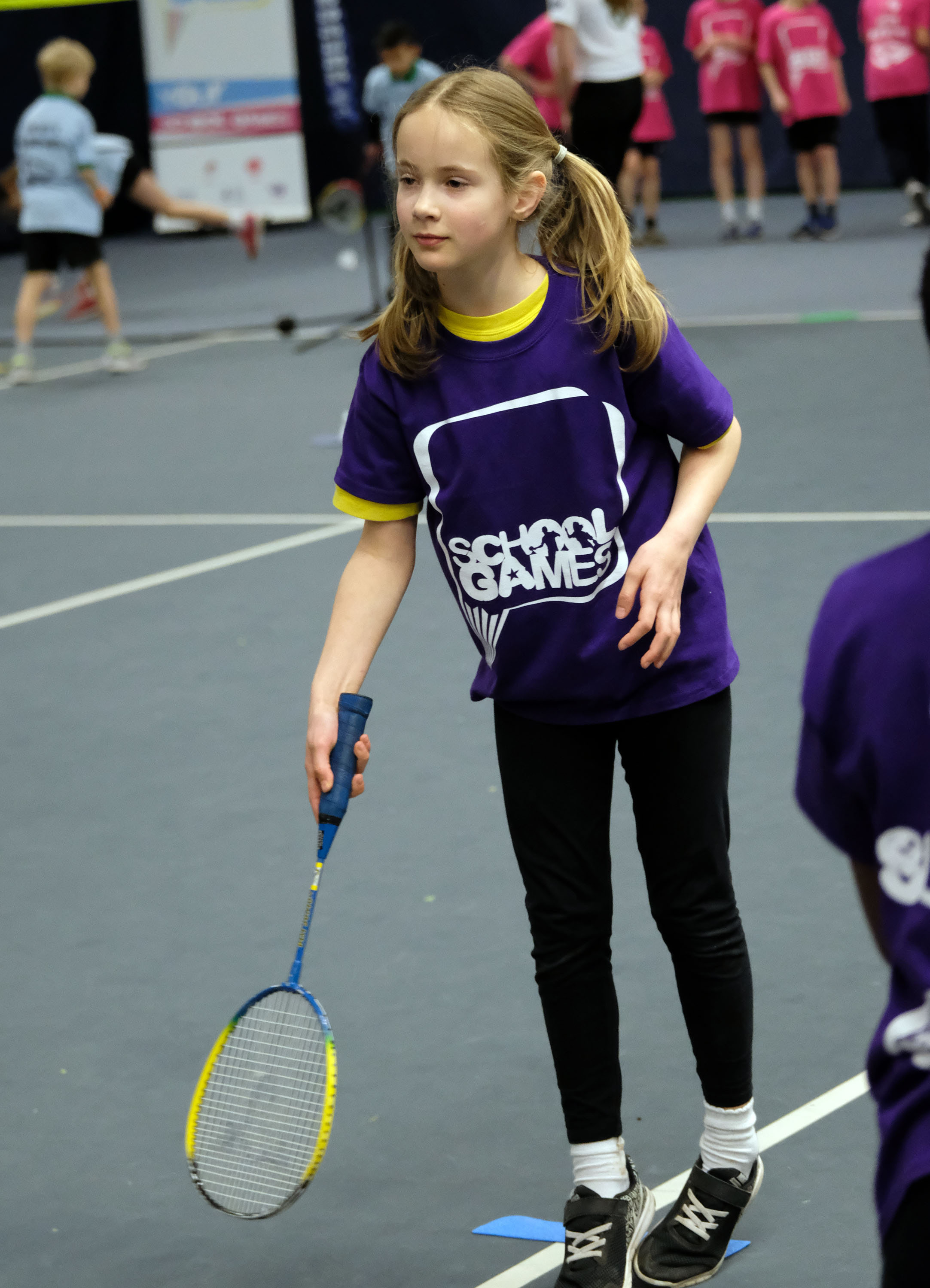 A Slough-based pupil competes in the badminton event at the Berkshire Winter School Games. PHOTOS: Mike Swift, 180378