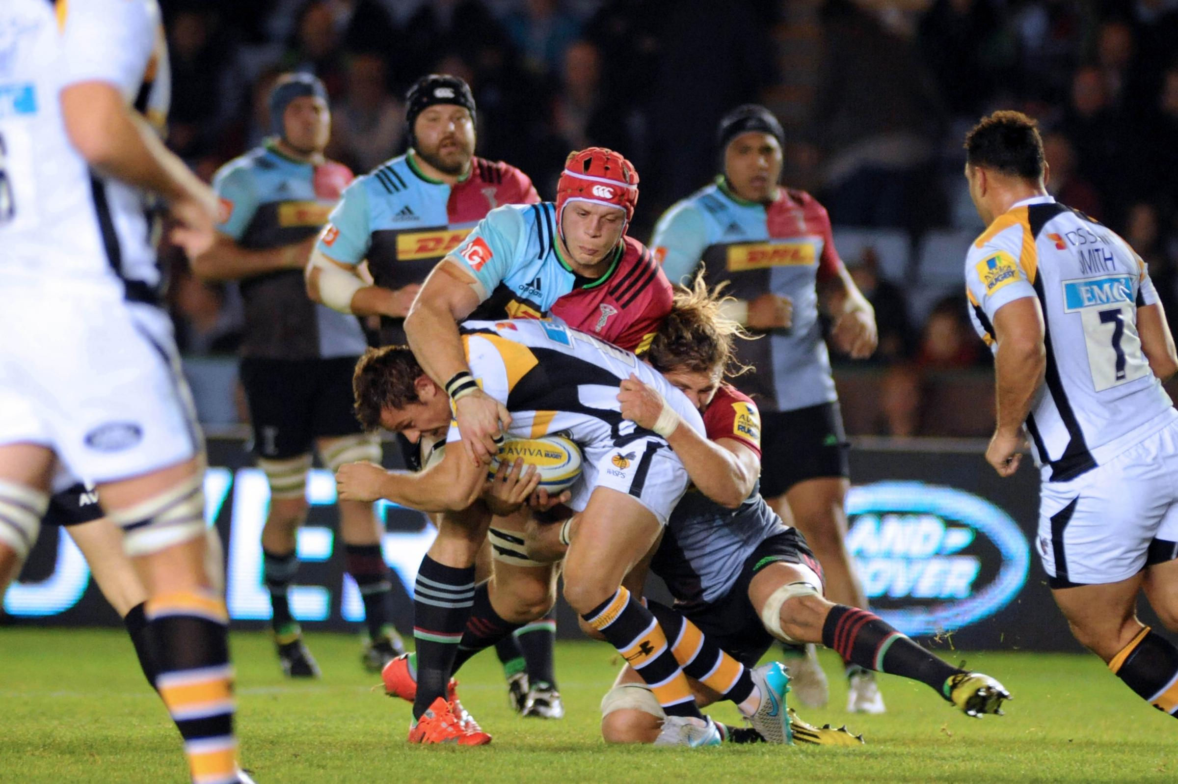 Sam Twomey in action for Harlequins.