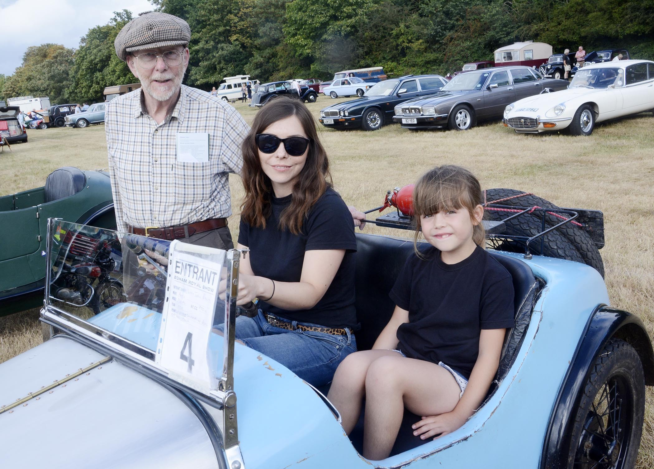 The vintage cars always go down well at Egham Show
