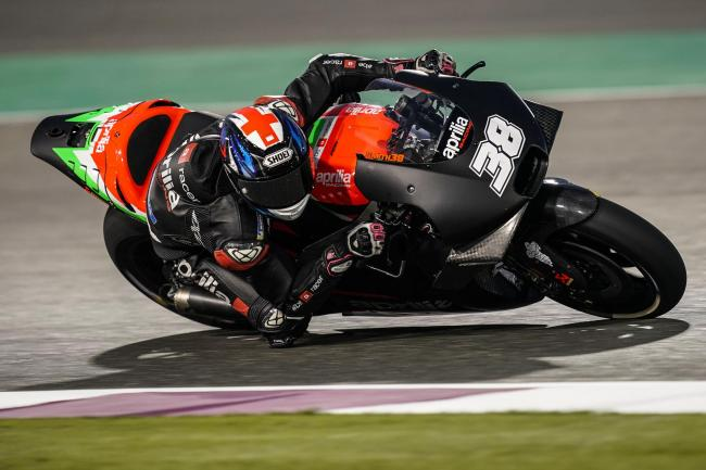 Bradley Smith crashed out with two laps remaining in the Qatar MotoGP Picture: Aprilia